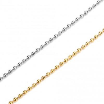 Ατσάλινη αλυσίδα μπιλάκι 2mm (τιμή ανά μέτρο)