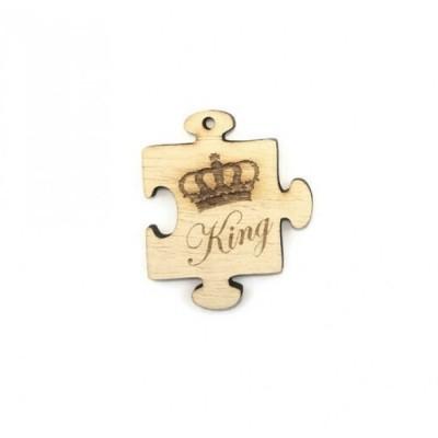 Puzzle king ξύλινο στοιχείο 45x39mm
