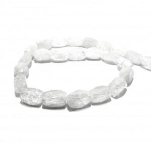 Λευκός χαλαζίας φυσικές ημιπολύτιμες πέτρες 16x10mm (σειρά/24τμχ.)