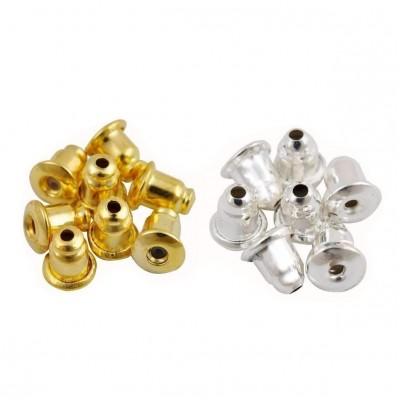 Κουμπώματα για σκουλαρίκια 6x5mm (συσκευασία/100τμχ.)